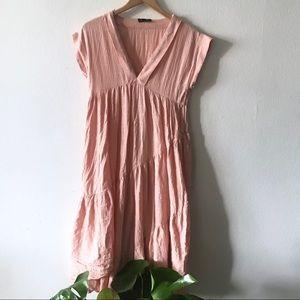Zara Pink & Gold Maxi Dress